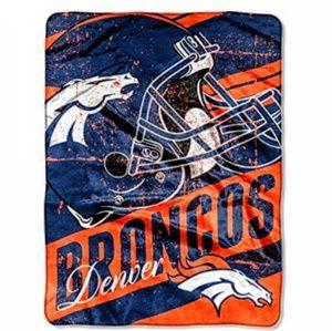Denver Broncos Super Plush Throw Blanket New
